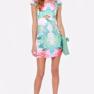 Lulu's Lily Pond Lady Floral Print Dress L'Atiste